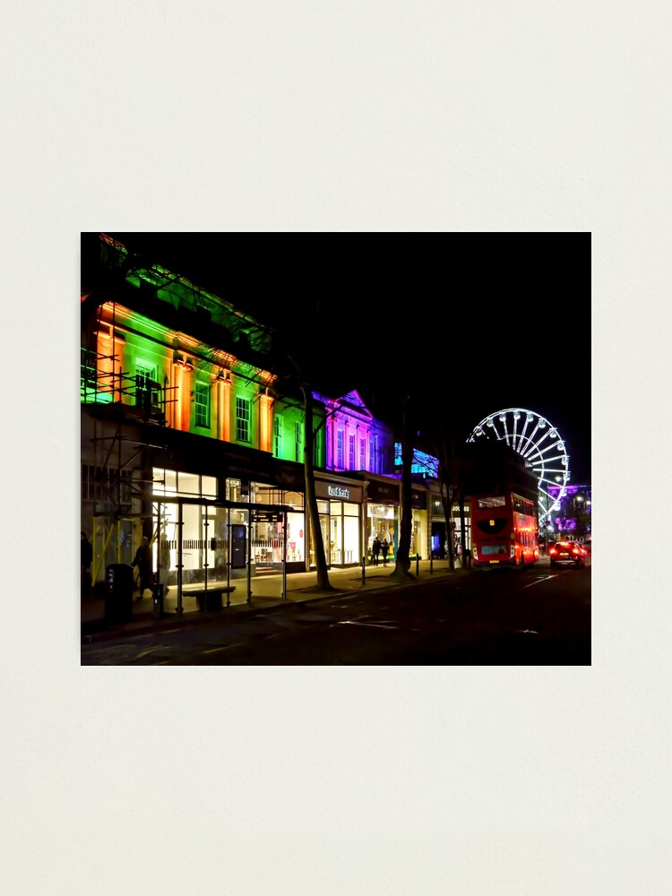 Alternate view of Spa Town Light Up Photographic Print