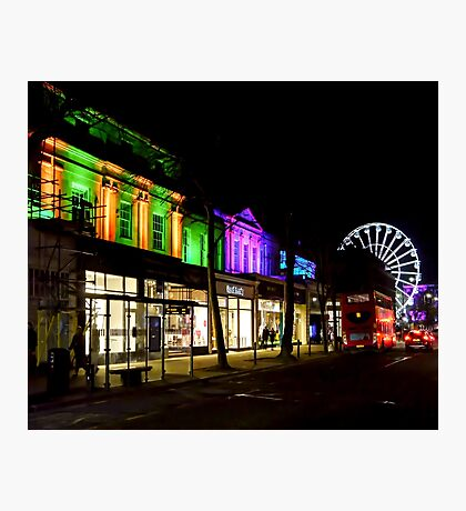 Spa Town Light Up Photographic Print