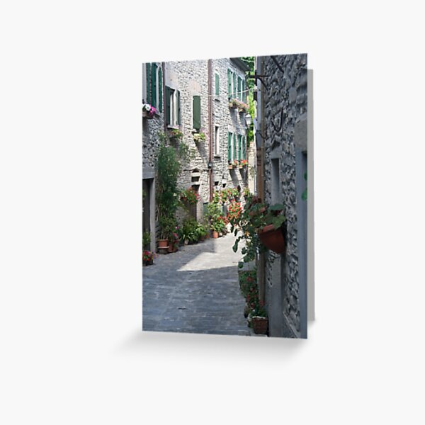 italian medieval alley Greeting Card