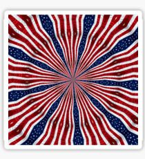 American Flag Kaleidoscope 6 Sticker