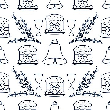 Seamless pattern with Easter symbols. by aquamarine-p