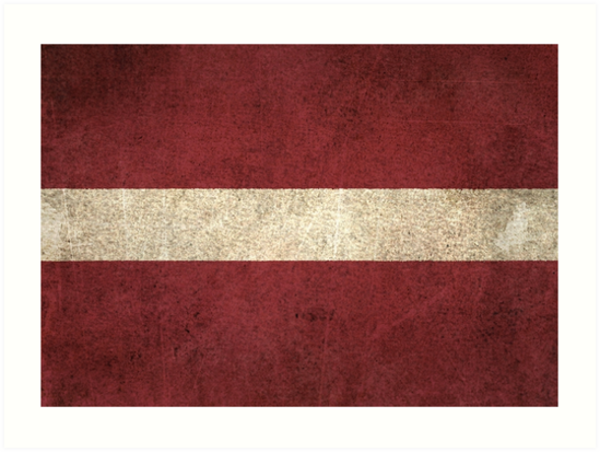 Old and Worn Distressed Vintage Flag of Latvia by jeff bartels