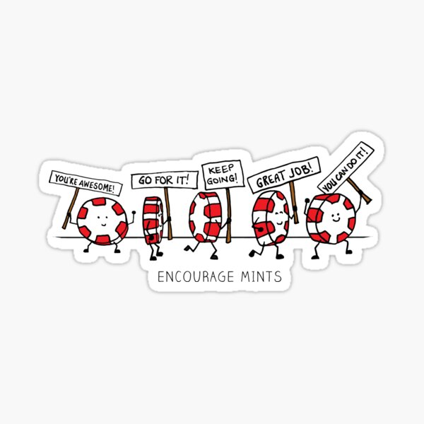 Encourage Mints Marching Sticker