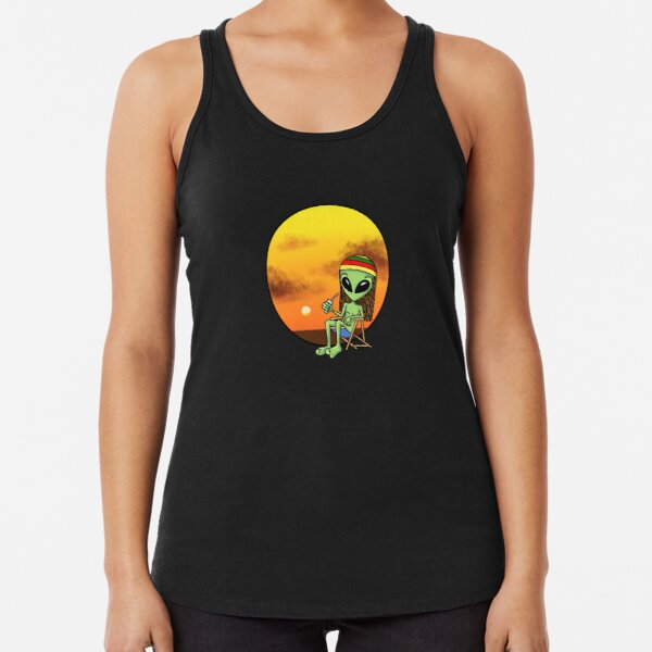 Ali on Vacations by Silvana Arias Racerback Tank Top