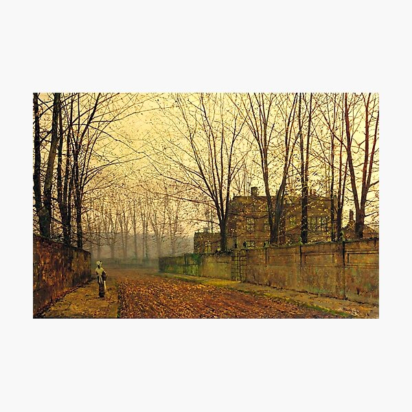 John Atkinson Grimshaw - November Morning - 1883 Photographic Print