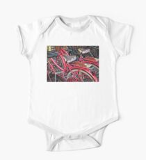 Twins - Bicycle Art By Sharon Cummings One Piece - Short Sleeve