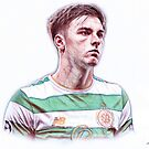 Kieran Tierney Traditional Pencil Drawing by madebyfrankie