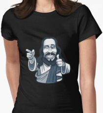 ★ jesus is watching Women's Fitted T-Shirt