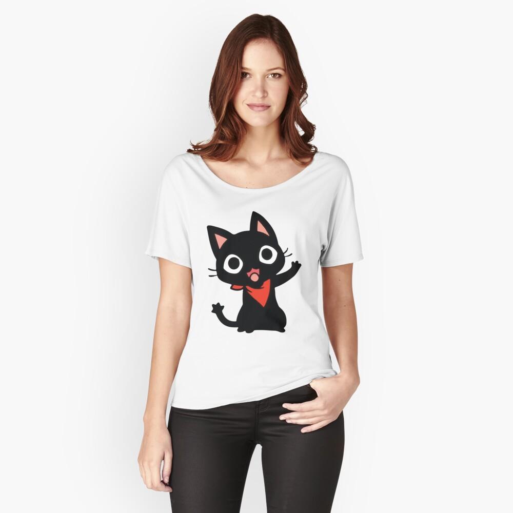 ★ Kawaii WaveCat Women's Relaxed Fit T-Shirt Front