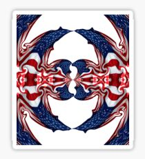 American Flag Polar Coordinate Abstract 1 Sticker