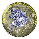 Apollo 11 50th Anniversary Lunar Module and Moon by Jim Plaxco