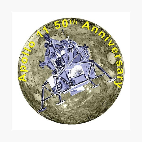 Apollo 11 50th Anniversary Lunar Module and Moon Photographic Print