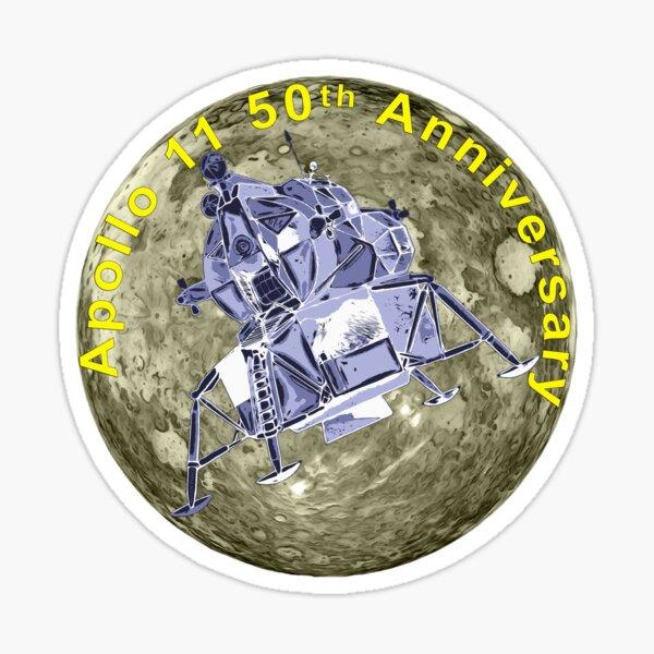 Apollo 11 50th Anniversary Lunar Module and Moon Sticker