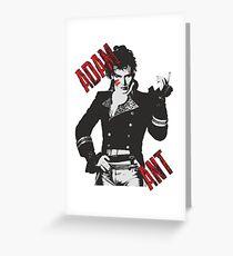 Adam Ant Neo Romantic 80er Jahre Pop Stehen und liefern Highwayman Grußkarte
