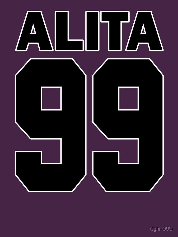 Alita - 99 - Black - Battle Angel Moterball Jersey by Cyle-099