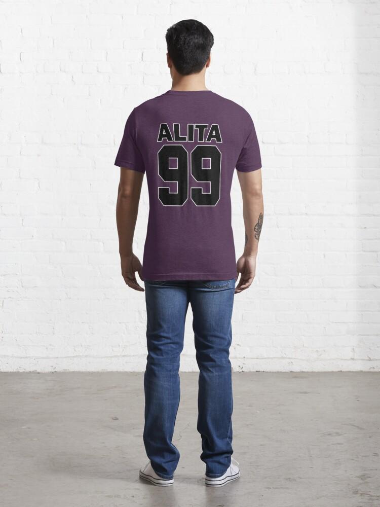 Alternate view of Alita - 99 - Black - Battle Angel Moterball Jersey Essential T-Shirt