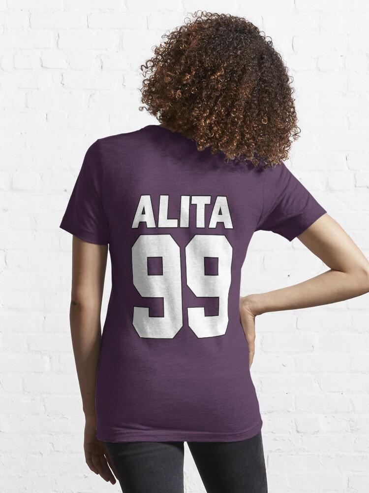 Alternate view of Alita - 99 - White - Battle Angel Moterball Jersey Essential T-Shirt