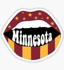 Minnesota Lips Sticker
