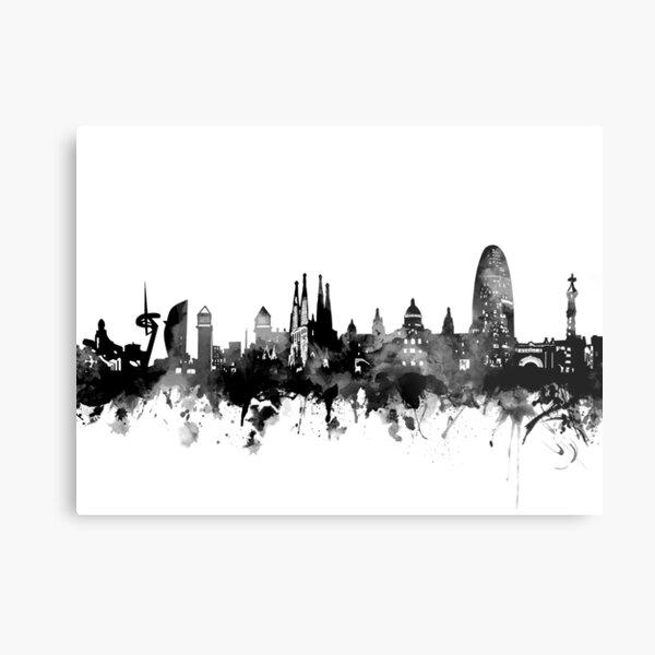 barcelona skyline Metal Print