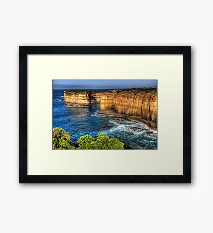 Weathered By Time - Great Ocean Road , Victoria , Australia - The HDR Experience Framed Print