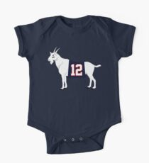 Limited Edition Tom Brady GOAT TB-12 Shirts, Mugs & Hoodies Short Sleeve Baby One-Piece