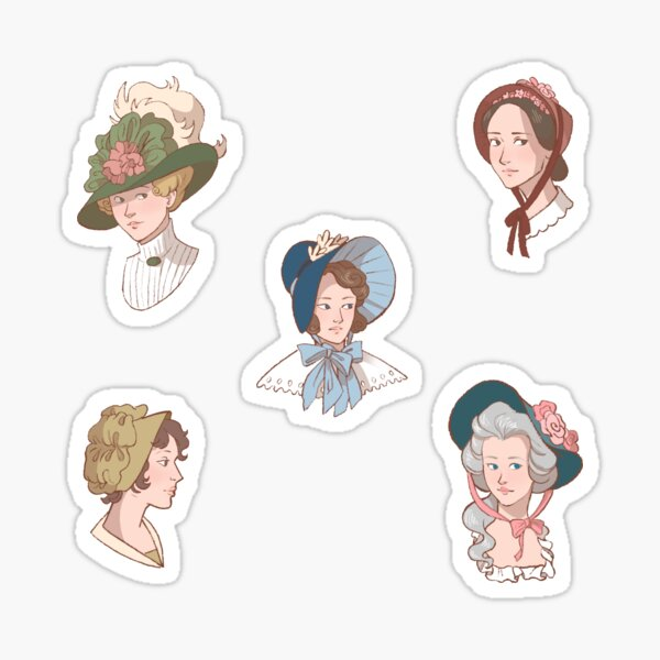 Bonnets and Ribbons Sticker