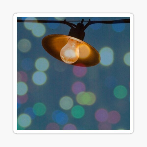 Ampoule enguirlandée Sticker