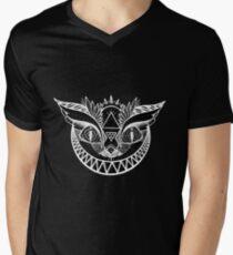 We're All Maddd Here - Black V-Neck T-Shirt