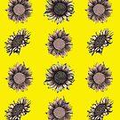 Many Red Yellow Sunflowers by Lukasz  Czyzewski