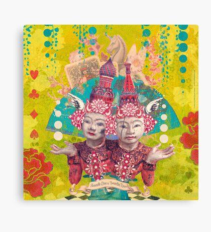 Tweedle Dee and Tweedle Dum Canvas Print