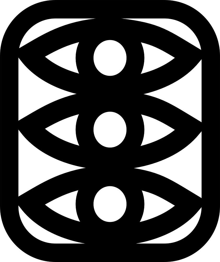 Three Eyes (black lines) by interpole