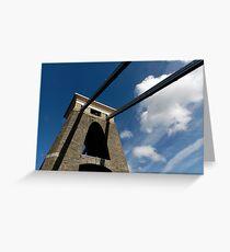 Clifton Suspension Bridge, Bristol, UK Greeting Card