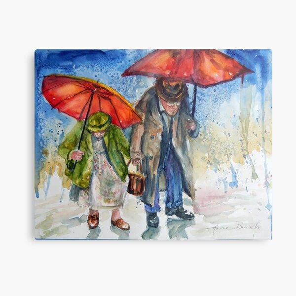 Rain or Shine I love you Always Metal Print