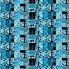Quilted Nautical Botanical Blues by fengshuibabe