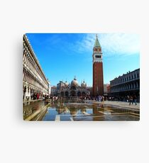 St Marco Square day time, venice, italy Canvas Print