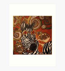 SteamPunk Zebra Art Print