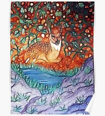 NESTLING FAWN Poster