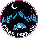 Pikes Peak Colorado Camping At Night Camp by MyHandmadeSigns