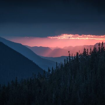 Sunset from Mount Carrigain, New Hampshire by mattmacpherson