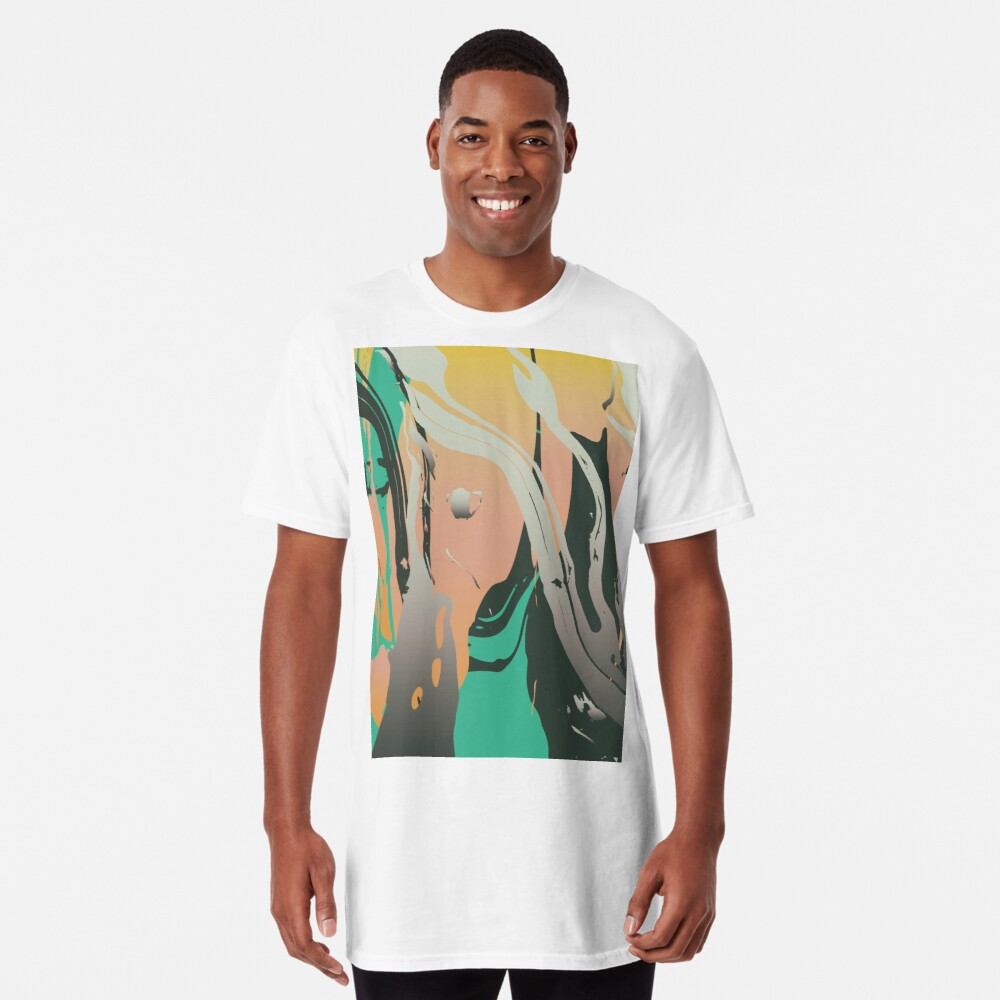Abstract Marble 3 Long T-Shirt