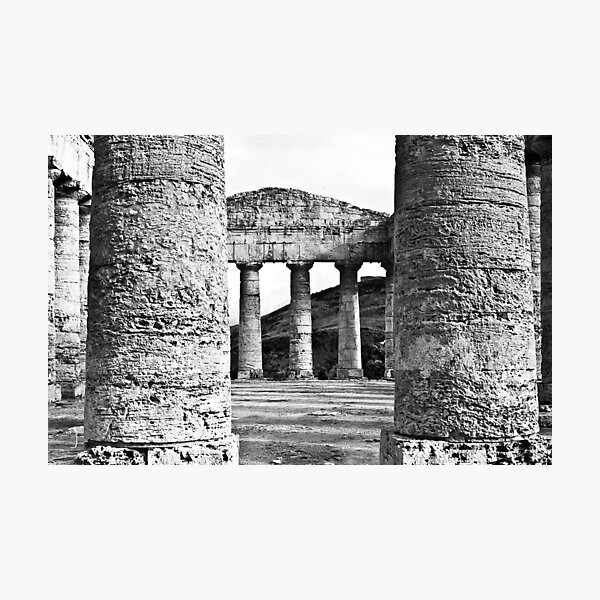 segesta's greek temple in Sicily Photographic Print