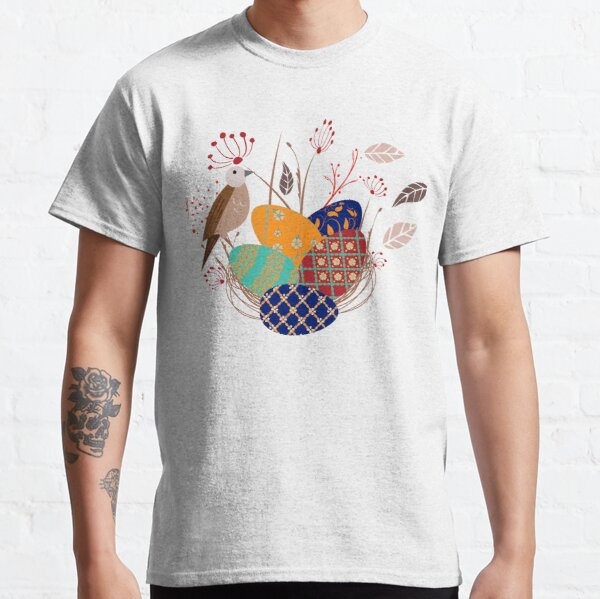 Nest of Pysanky Easter Eggs Nightingales and Swallows Classic T-Shirt