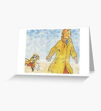 Tin Tin Greeting Card