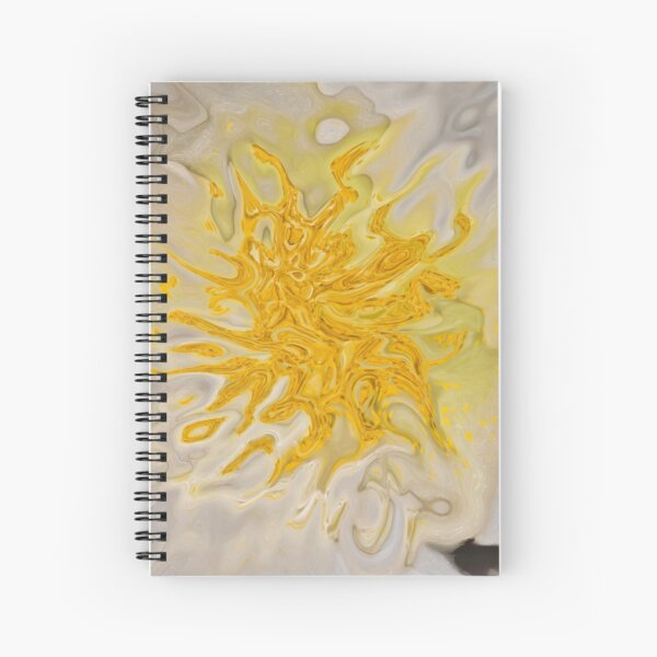 yellow on white background Spiral Notebook