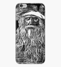 Odin - Woodblock Print - Schwarz iPhone-Hülle & Cover