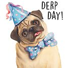 Derp Pug by Sarah  Mac Illustration