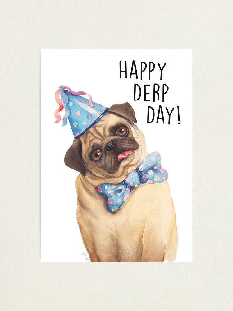 Alternate view of Derp Pug Photographic Print