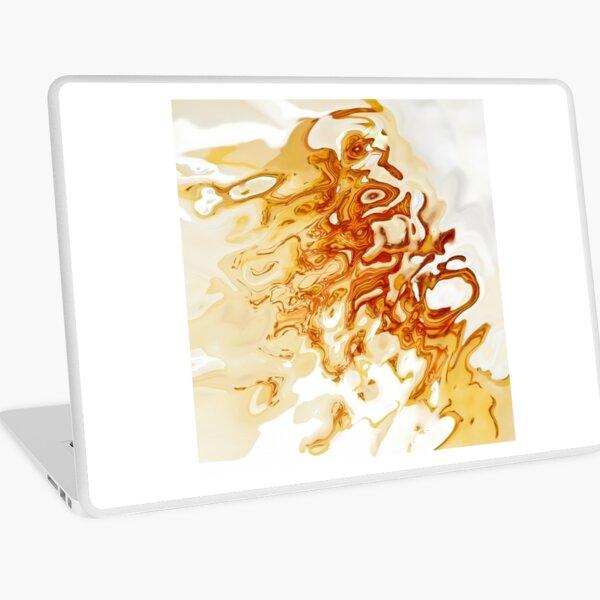white and orange acquerello Laptop Skin