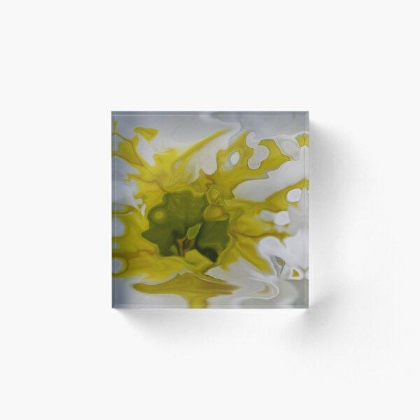 yellow blot Acrylic Block