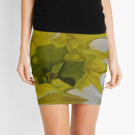 yellow blot Mini Skirt